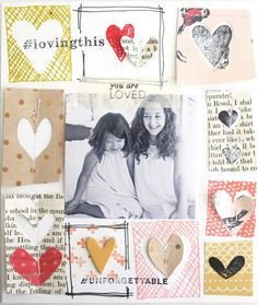 #papercraft #scrapbook #layout.  You are loved by ShannaNoel at @studio_calico