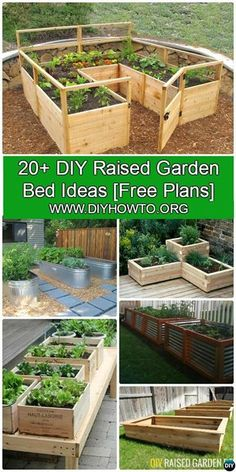 More than 20 #DIY Raised Garden Bed Ideas Instructions [Free Plans] from Cinder block garden bed to wood garden bed and garden tower! #Gardening-->> http://www.diyhowto.org/diy-raised-garden-bed-ideas/  http://www.diyhowto.org/diy-raised-garden-bed-ideas/  https://www.facebook.com/PreppingMeansPrepared/