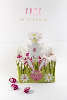FREE Printable Easter Basket