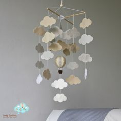 READY TO SHIP mutual cloud bank baby mobile by LovelySymphony