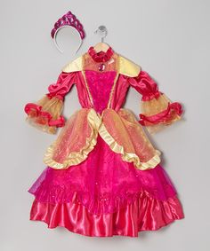 Take a look at this Pink Pretty Princess Dress-Up Set - Toddler & Kids on zulily today!