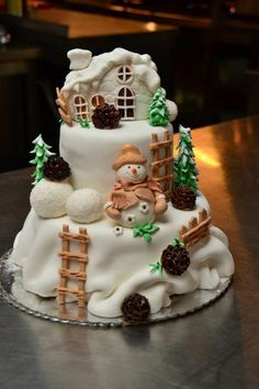 Christmas is an annual festival、important day, cakes and desserts are an important part of the good times in the festival. These simple Christmas cake ideas maybe can bring you an unforgettable holiday experience. Christmas Cake Designs, Christmas Cake Decorations, Christmas Cupcakes, Holiday Cakes, Christmas Desserts, Christmas Treats, Xmas Cakes, Christmas Snowman, Cake Cookies