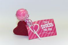 Sucker for You TEMPLATE: 118103 By Cynthia Coulon Double-sided Business Cards Customize this clever Valentine's card and affix a lollipop for a special treat your school child can share with friends!