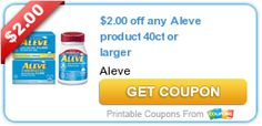 New Aleve Product Coupons! $2/1 Aleve 40+ & $1/1 Aleve-D Product!