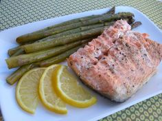 Salmon and Asparagus in Foil. Photo by Chef*Lee