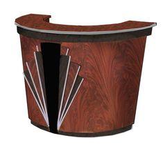 Amazing quality Art Deco Walnut curved buffet or storage unit