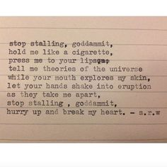 IG- @universeandskinpoetry #poem #poetry #quote #love