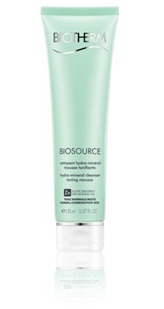 BIOSOURCE FOAMING CREAM Normal Skin - Normal to combination skin,  Biosource-puhdistusvaahto normaali-ja sekaiholle 50 ml
