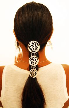 Hair Armor Celtic Silver | Hair Armor Diy Hairstyles, Pretty Hairstyles, Larp Fashion, Celtic Braid, Diy Hair Accessories, Gorgeous Hair, Amazing Hair, Ethnic Jewelry, Silver Hair
