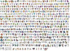 649 pokemon by Kachoux - pokemon names, pokemon list, 649 pokemon, noms pokemon, ash, pokemon, anime, pikachu