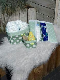 Luiermand je +luiertasje+mandje voor babybenodigheden 💕💕# lekker handig#