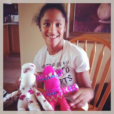 Kiera making monkeys with her girls and having a time. Happy Birthday!!!! Amazing monkey, amazing young lady!