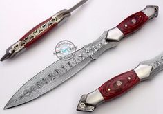 "12.50"" Custom Made Beautiful Damascus Steel Full Tang Dagger Knife (AA-0346-3) #UltimateWarrior"