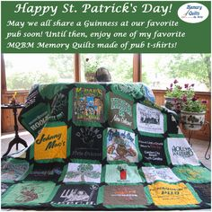 Happy St. Patrick's Day! May We All, Memory Quilts, Quilt Making, Making Out, How To Memorize Things, Memories, My Favorite Things, Day, Fabric