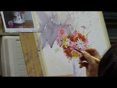 Painting flowers PT 2 - YouTube
