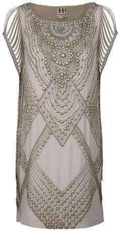 Haute Hippie Studded Dress in Beige