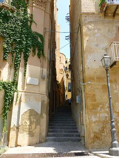 Agrigento, Sicily, alley of the old town