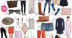 50 things every woman must own, capsule wardrobe, minimal wardrobe, what to wear