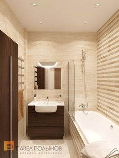 Фото ванная комната из проекта «Дизайн проект 1-комнатной квартиры 70 кв.м. в ЖК «Риверсайд», современный стиль»