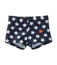 Jongens aansluitende zwembroek met sterrenprint