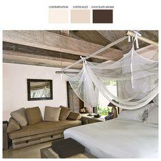 Natura z odrobiną luksusu to propozycja dla zwolenników niewymuszonej elegancji. Określa ją połączenie wyrazistego akcentu drzewnego z ciepłą barwą piasku.