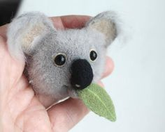 Koala Bear Koala Brooch pin needle felted brooch Koala