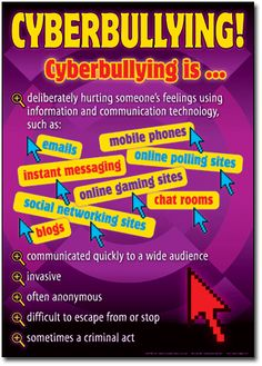 Cyber Bullying Poster #digitalcitizenship #cyberbullying