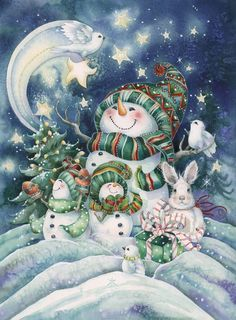 Bergsma Gallery Press :: Products :: Holiday - Occasions :: Christmas :: Christmas Prints :: Everything Comes Alive with the Joy of Christmas - Prints Christmas Clipart, Vintage Christmas Cards, Christmas Snowman, Vintage Cards, Winter Christmas, Christmas Holidays, Christmas Crafts, Merry Christmas, Family Christmas
