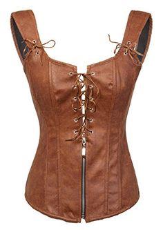 BSLINGERIE® Womens Black Faux Leather Wetlook Bustier Corset (XL, Brown) Bslingerie http://www.amazon.com/dp/B00X5C7VIO/ref=cm_sw_r_pi_dp_pSLBvb0WDHAWY