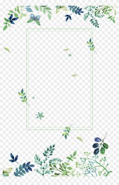 Flower Border Clipart, Hd Textures, Green Flowers, Overlays, Spain, Notes, Clip Art, Scrapbook, Watercolor
