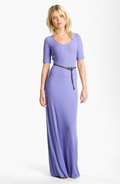 FELICITY & COCO Belted Jersey Maxi Dress | Nordstrom
