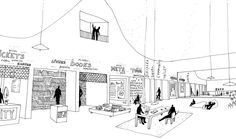 Maxwan has won the competition to design the next Architecture Biennale held at the NAi, Rotterdam in Portfolio Examples, Portfolio Design, Hand Drawing Designs, Landscape Drawings, Landscapes, Interior Sketch, Site Analysis, Architect Design, Layout Inspiration