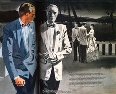 1950s french blue dinner jacket - Google Search