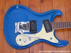 1965 Ice Blue Mosrite Ventures Model.