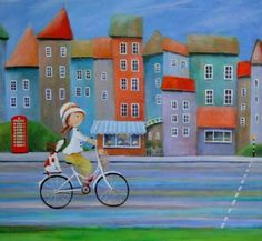 Se Maleriet Ulla og hendes Påske hat købt i London i galleriet på MyArtSpace.dk