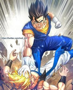 Love the art, but I really like both of them too. Kinda summarises the fan war between Gogeta and Vegito powers