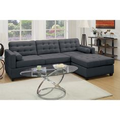 Bobkona Hardin Reversible Chaise Sectional  sc 1 st  Pinterest : cheap sectionals for sale free shipping - Sectionals, Sofas & Couches