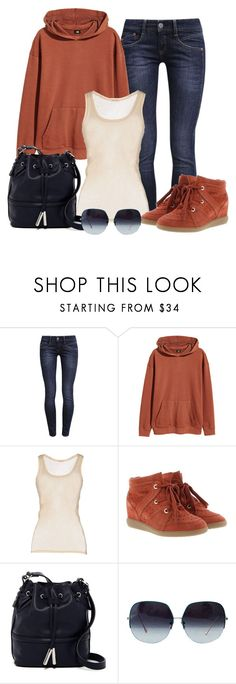 """Untitled #1359"" by gallant81 ❤ liked on Polyvore featuring Herrlicher, H&M, American Vintage, Étoile Isabel Marant and French Connection"
