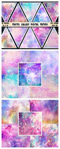 Galaxy Digital Paper Galaxy Scrapbook Paper Space Paper Outer Space