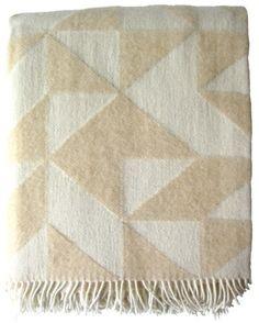 Twist a Twill blanket in beige $125