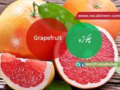 Learn English vocabulary in Urdu. English through Urdu made easy. Easiest way to learn English vocabulary in Urdu. English to Urdu Vocabulary. Gre Vocabulary, English Vocabulary, English Speaking Practice, English Language Learning, Fruits Name With Picture, Fruits And Vegetables Names, Fruit Names, Esl, Learn English
