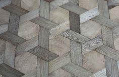 Basket weave wood floor from Atelier des Granges | Remodelista