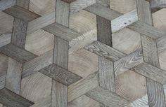 Basket weave wood floor from Atelier des Granges | Remodelista