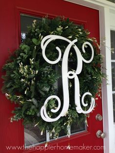 DIY Monogram Spring Wreath and a Big Giveaway!