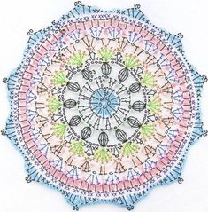 Naissance Mandala ~ Pattern Here is the pattern for the Naissance Mandala. Although a long post, I hope the photos included help support the pattern. For a concise and on the go version Motif Mandala Crochet, Crochet Diagram, Crochet Stitches Patterns, Crochet Chart, Crochet Granny, Diy Crochet, Knitting Patterns, Flower Mandala, Crochet Squares