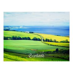 Summer landscape in Scotland, beautiful poster