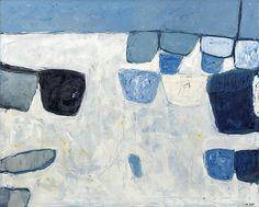 thunderstruck9:William Scott (Scottish, 1913 -1989), Blue and White, 1958. Oil on canvas, 39 x 49 in.