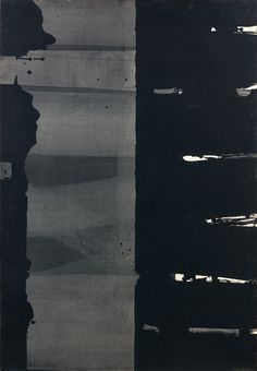 Pierre Soulages (French, b. Gouache sur papier, x Gouache and wash on paper laid on canvas, x Abstract Drawings, Abstract Art, Tachisme, Gouache, Art Abstrait, Jackson Pollock, Art Moderne, Art For Art Sake, Light Painting