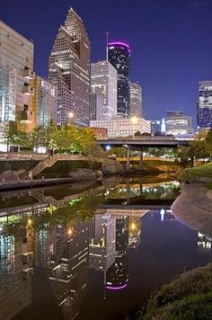 Houston, Texas, USA @ Night