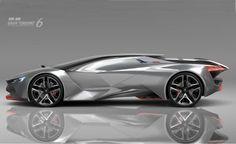the 'peugeot vision gran turismo' concept reveals a dramatic silhouette Supercars, Peugeot 504, Automobile, Car Design Sketch, Car Sketch, Transportation Design, Future Car, Sexy Cars, Automotive Design